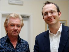 Noel Edmonds and More or Less presenter Tim Harford