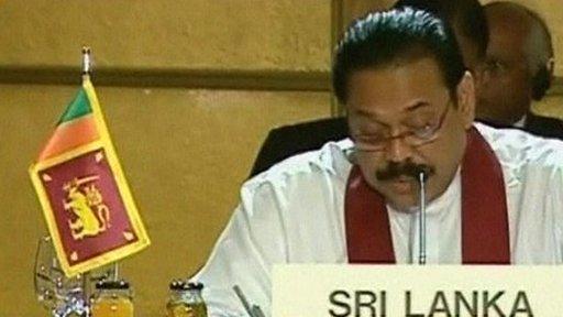 Sri Lanka's President Mahinda Rajapakse