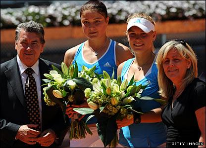 Dinara Safina and Caroline Wozniacki