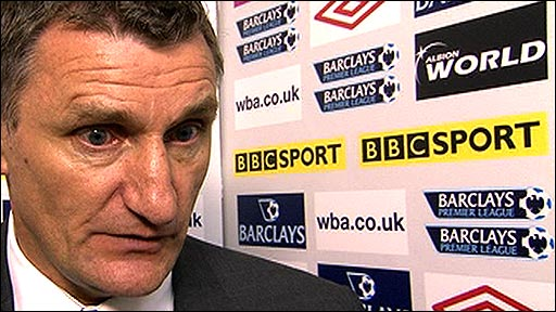 WBA boss Tony Mowbray