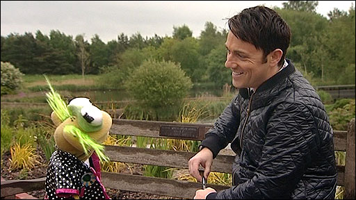 Jelly from the CBeebies' Green Balloon Club talks to BBC Norfolk's Martin Barber