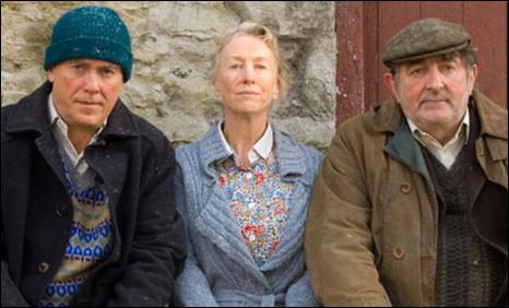 Geraint Lewis, Sharon Morgan and Ifan Huw Dafydd