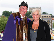 BBC Radio Norfolk's Roy Waller (right) and his wife Sylvie