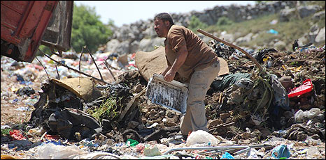 Rubbish tip near al-Bireh
