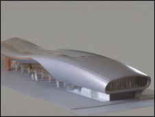 Model of the Slough bus station design