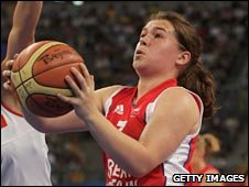 GB wheelchair basketball player Helen Freeman