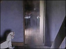 Ghostly image in doorway