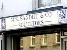 Premises operated by the solicitor in Limavady