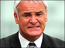 Claudio Ranieri grimaces on the sidelines