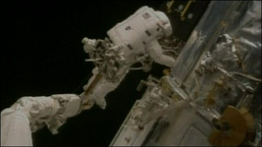 Astronaut on spacewalk