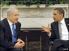 Israeli PM Benjamin Netanyahu and US President Barack Obama in Washington