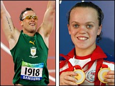 Paralympic champions Oscar Pistorius and Ellie Simmonds