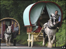 Travellers en-route to Appleby