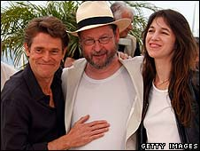 Willem Dafoe, Lars von Trier and Charlotte Gainsbourg