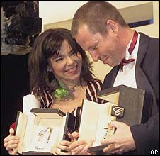 Lars von Trier (right) with Bjork