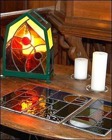 Stained glass work by John Bardell
