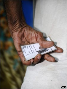 An Indian voter