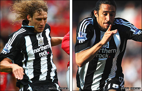 Fabricio Coloccini (left) and Jonas Gutierrez