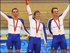 Darren Kenny, Jody Cundy and Mark Bristow