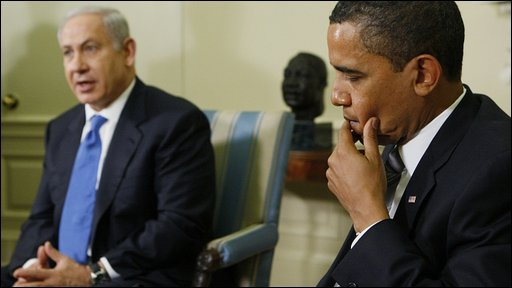 Benjamin Netanyahu with President Obama