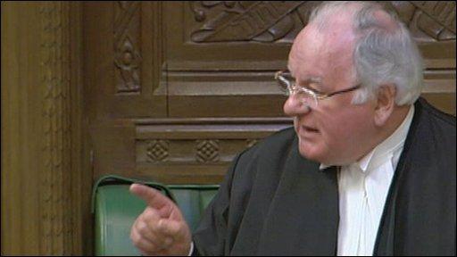 Commons Speaker, Michael Martin