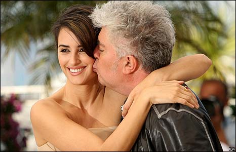 Penelope Cruz with director Pedro Almodovar