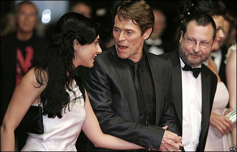Willem Dafoe (centre) with Giada Colagrande and Lars von Trier