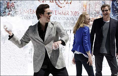 Jim carrey, Robin Wright Penn and Colin Firth
