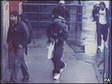 CCTV showing the four London bombers