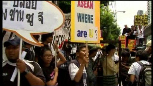 Protests in support of Aung San Suu Kyi
