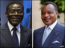 Denis Sassou-Nguesso of Republic of Congo and Teodoro Obiang Nguema of Equatorial Guinea