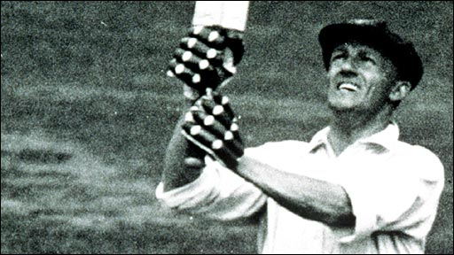 Don Bradman in action