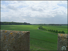 The view from Raynham Hall, Norfolk