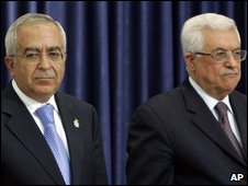 Salam Fayyad and Mahmoud Abbas
