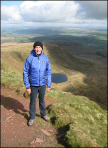 Ken Milbourn from Harlow in Essex enjoys the stunning views on his way to the summit of Pen Y Fan in the Brecon Beacons (Ben Milbourn).