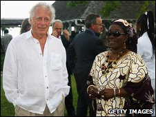 Chris Blackwell and Rita Marley