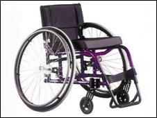 John Febvre's hi-tech wheelchair