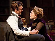 Toby Stephens and Gillian Anderson in A Doll's House (photo byJohan Persson)