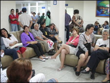Waiting room at Pando Ferrer Hospital