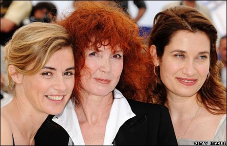 Actresses Anne Consigny, Sabine Azema, Emmanuelle Devos