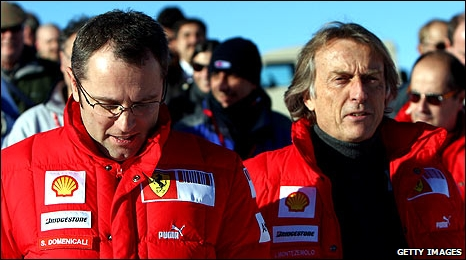 Stefano Domenicali and Luca di Montezemolo