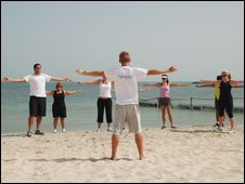 Bad Times Boot Camp on the beach in Dubai