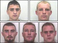 (Top L-R) John James, Joby Barney, (Bottom L-R) Trevor Gray, John Wilkinson, Daniel Coker