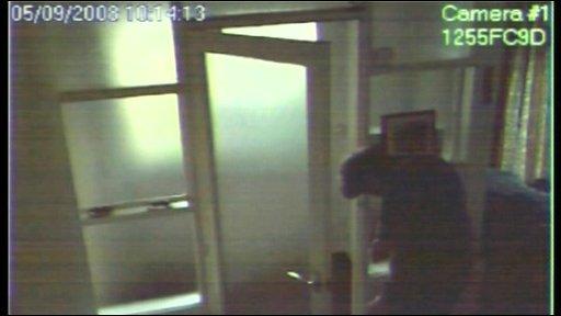 CCTV shot of front door
