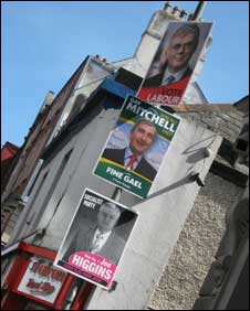 Ireland - Euro election signs