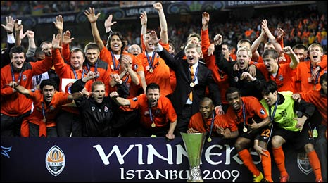 Shakhtar are the last ever winners of the Uefa Cup