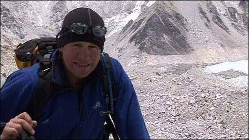 Andrew North climbing to Everest Base Camp