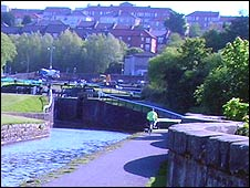 Maryhill locks and aqueduct
