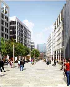 Artist's impression of plans for Coventry