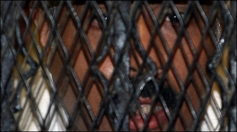 Hisham Talaat Moustafa in the dock after hearing his sentence 21/05/2009